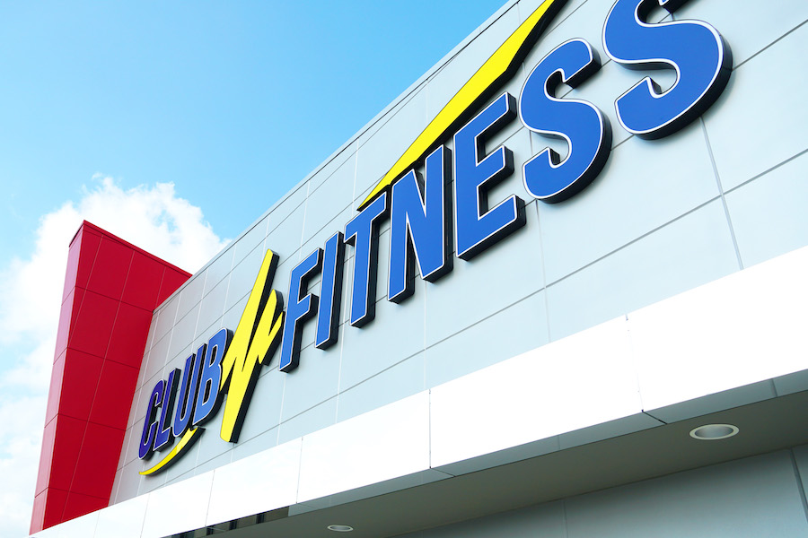 Exterior of a Club Fitness location
